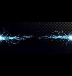 Lightning bolts realistic vector