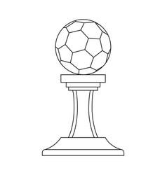 line art black and white soccer ball winner award vector image