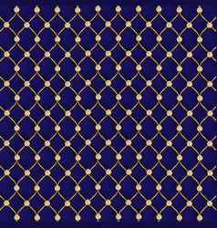 Luxury leather blue golden background vector