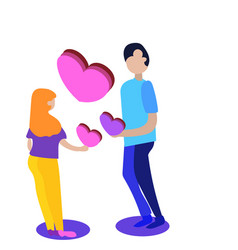 man and woman in love valentine daycouple vector image