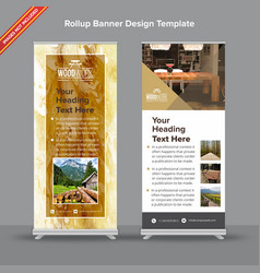 marble texture brown and mustard rollup banner vector image