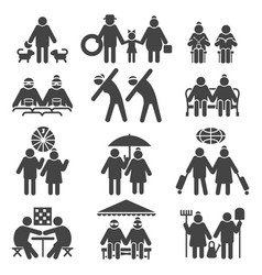 old people active lifestyle vector image vector image