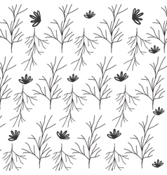 Pattern of stem with multiple branches vector