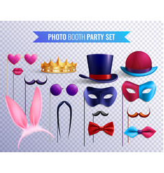 photo booth masks set vector image