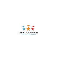 Primary school logo - life education vector