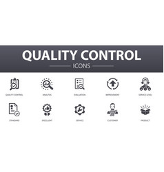 Quality control simple concept icons set contains vector