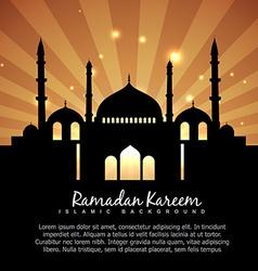 ramadan kareem islamic background vector image
