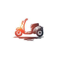 scooter bike speed vehicle transport concept vector image