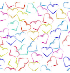 seamless valentine pattern background with vector image