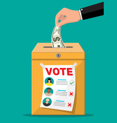 Selling vote for election vector