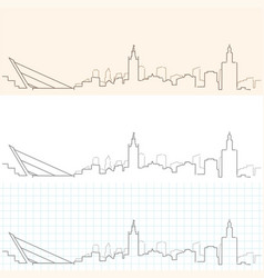 Seville hand drawn skyline vector