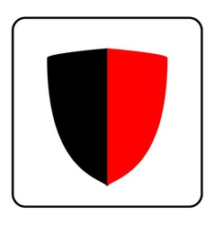 Shield icon red and black 1 vector
