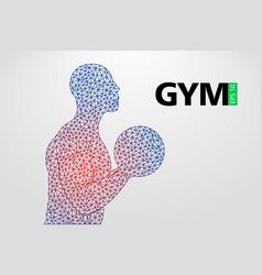 Silhouette of a bodybuilder gym logo vector