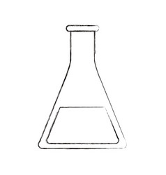 Sketch blurred silhouette image glass beaker for vector