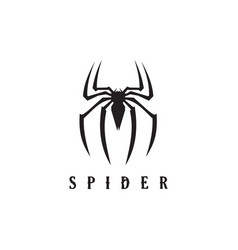 Spider animal icon logo design template vector