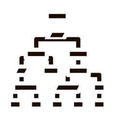 Structure computer system icon vector