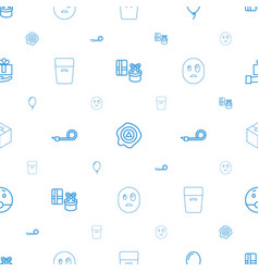 Surprise icons pattern seamless white background vector
