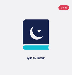 Two color quran book icon from cultures concept vector