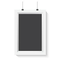 Vertical Poster Frame Mockup Realistic vector image