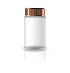 White medicine round bottle with grooved lid vector