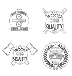 Wood quality vector