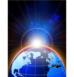 World and background vector