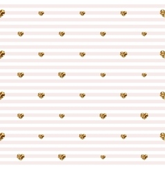 Abstract Valentine s Day hearts Gold glittering vector image vector image