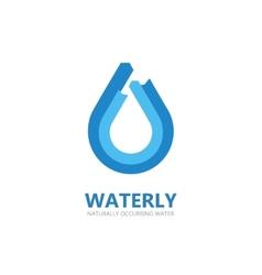 Blue water drop logo vector image vector image