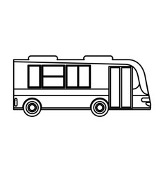bus transport passenger public outline vector image