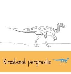 Coloring page with Kirostenot pergrasilis dinosaur vector image