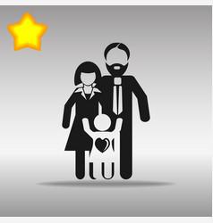 family black icon button logo symbol vector image