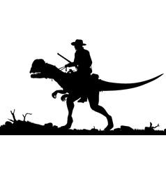 Prehistoric cowboy vector image