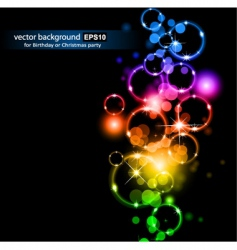 space circles vector image vector image
