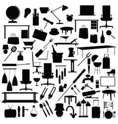 tool set in black color on white background vector image vector image