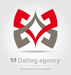 Dating agency business icon vector image