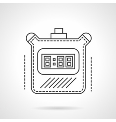 Digital timer flat line icon vector image