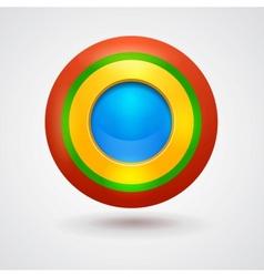 Empty bright colorful button vector image