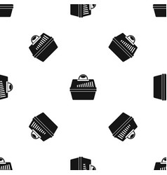portable cage for pets pattern seamless black vector image vector image