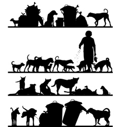 Street dog foregrounds vector image