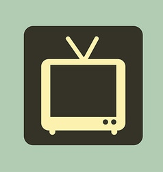 tv old design vector image vector image