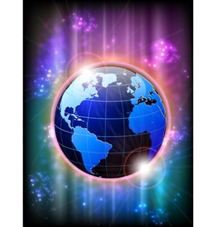 world and background vector image vector image