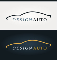 automotive icon car silhouette vector image