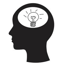 Man and thinking vector image vector image