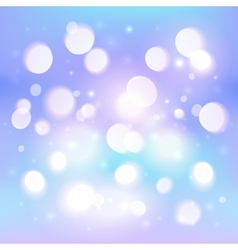 Blue abstract shining light bokeh effect vector image vector image