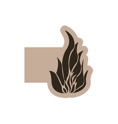 contour emblem fire icon vector image