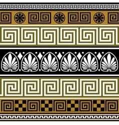 greek borders vector image vector image