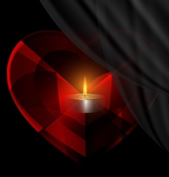 heart-crystal and candle vector image