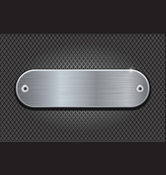 metal perforated background with stainless steel vector image