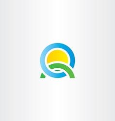 nature landscape icon letter q logo vector image