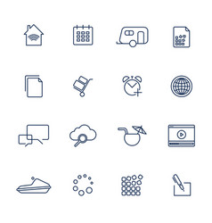 simple ui icons for app sites programs vector image